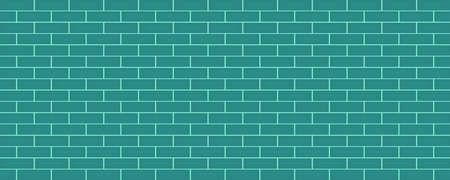 Blue colorful brick wall abstract background with geometric wallpaper backdrop pattern seamless art graphic design vector illustration vintage