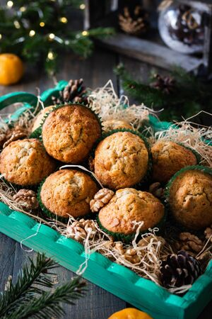 New Year and Christmas Carrot-Nut Muffins