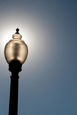 street light in Denver photo