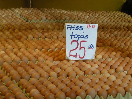 dozens: eggs for sale in a Budapest market