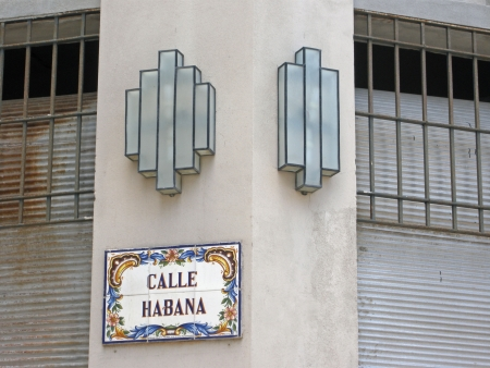 artdeco: art deco street lights in old Havana Cuba