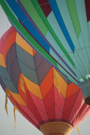 aloft: balloons aloft at festival in Colorado Stock Photo