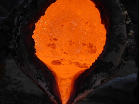 looking inside: looking inside the melting material