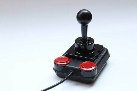 Classic Retro Joystick from the Eighties on white. 写真素材