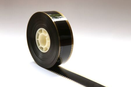 Small 35mm Movie Trailer Film Roll on a Bobby. This is a 2-3 minute long film strip.