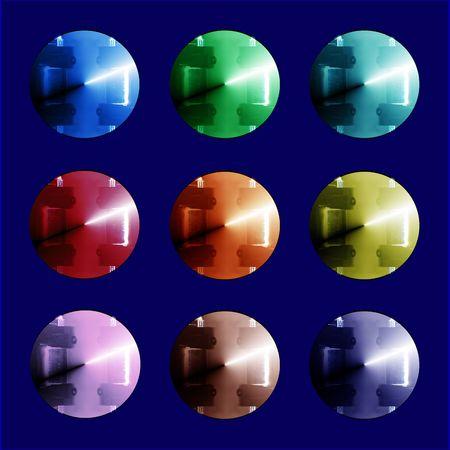 Colorful metalic buttons Фото со стока