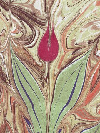 marbled: Tulip marmorizzato su carta