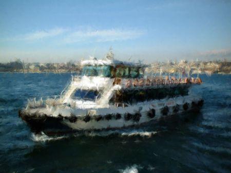 shuttle on the bosphorus