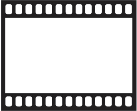 film strip illustration as vector Vector