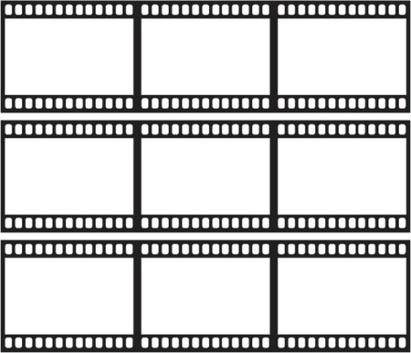 movie projector: film strips illustration as vector Illustration