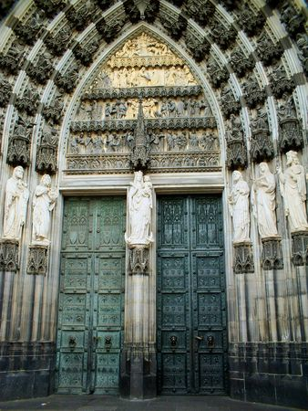 The entrance to the Dome in Cologne Stock fotó
