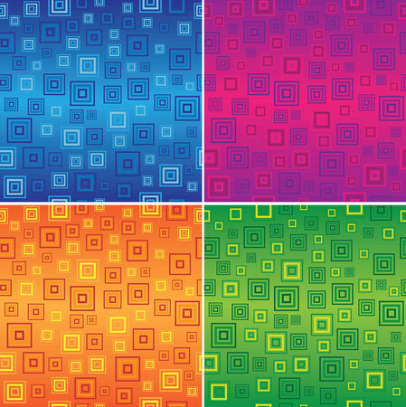 Squares pattern in 4 different colour schemes Stock Vector - 27494086