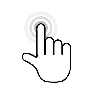 dedo indice: Haga clic puntero de la mano