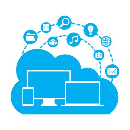 Cloud computing Иллюстрация