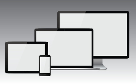 preview: Device set with blank screens Illustration