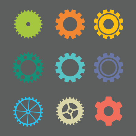gearings: A set of colorfull gears