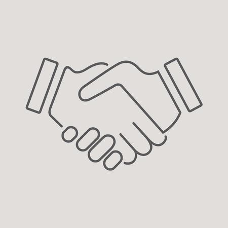 mani che si stringono: Stretta di mano Vettoriali