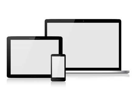 Laptop, tablet, smartphone Vector