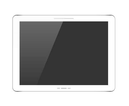 touchpad: White tablet