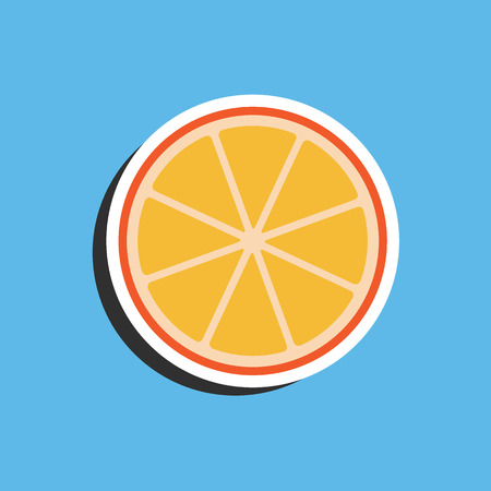 Orange sticker Vector