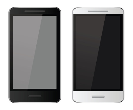 Realistic mobile phones Vector