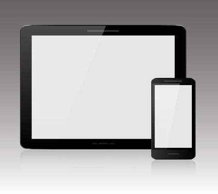 e reader: Tablet and smartphone Illustration