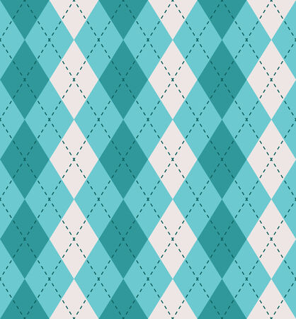 Argyle seamless pattern in shades of blue Vector
