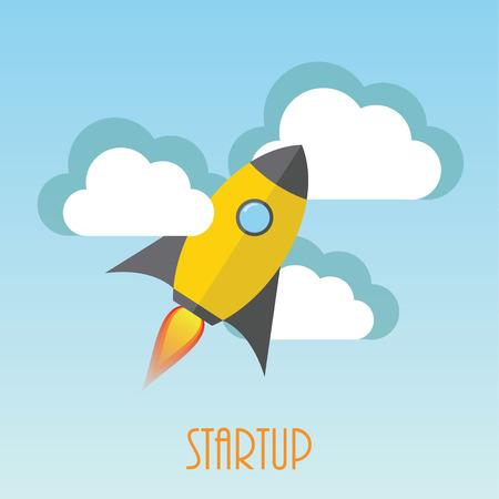 Startup rocket Stock Vector - 28413672