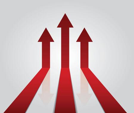 pointing up: Le frecce verso l'alto Concetto di successo