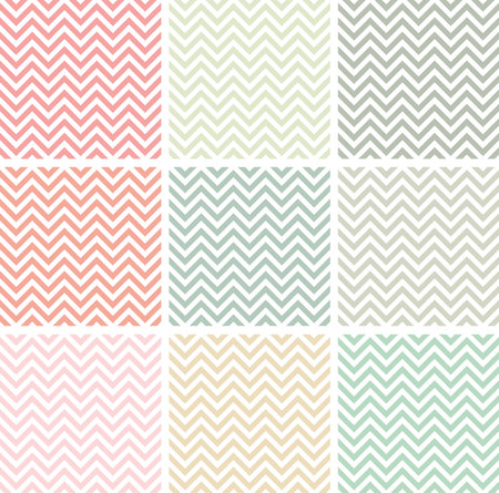 pastel colored: Pastel colored chevron patterns