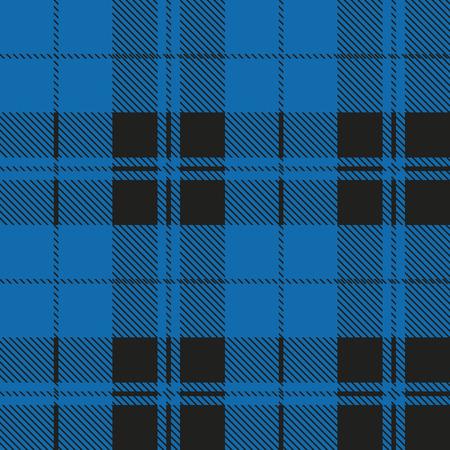 Motif tartan en bleu