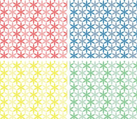 pastel shades: Circles seamless patterns in pastel shades