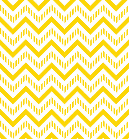Yellow and white chevron seamless pattern