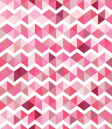 Pink and white chevron seamless pattern Vector