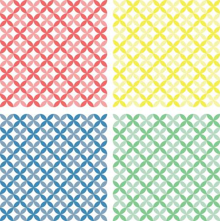 Circles seamless patterns in pastel shades Vector
