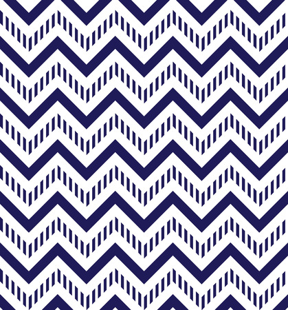 Navy blue and white chevron seamless pattern Vector
