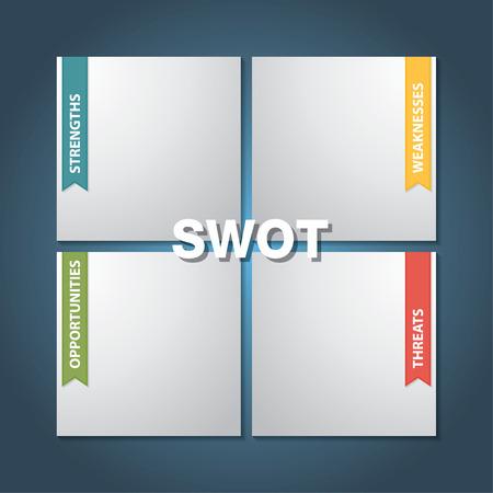 SWOT Analysis Strategy Diagram Illustration Illustration