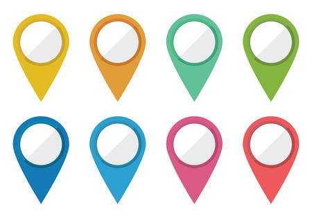 A set of 8 location pointers