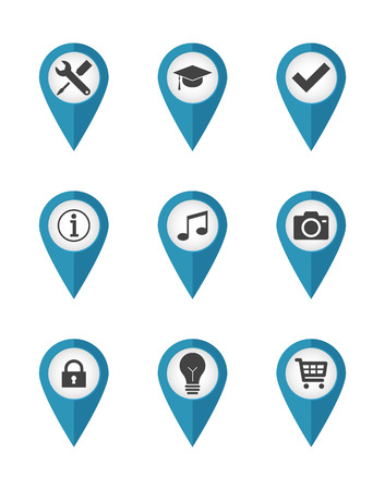 reference point: Location pointers with icons