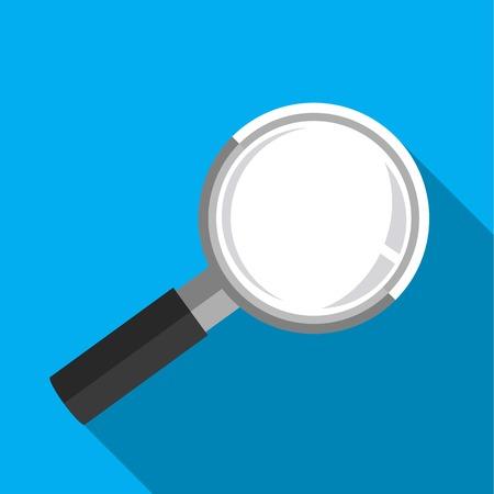 magnification: Flat design magnifying glass Illustration