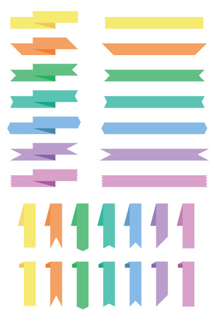 colorfull: A set of different colorfull ribbons Illustration