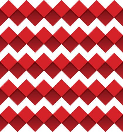 chevron seamless: Red chevron seamless pattern with red squares Illustration