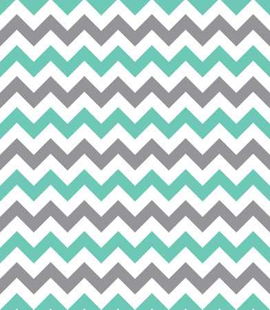 Mint green and grey seamless chevron pattern