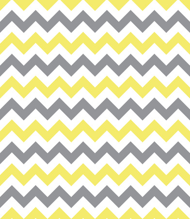 Seamless chevron pattern, yellow and grey Stock Illustratie