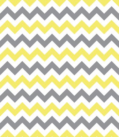 Seamless chevron pattern, yellow and grey Illustration