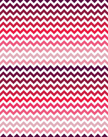 ombre: Seamless chevron pattern in shades of pink Illustration