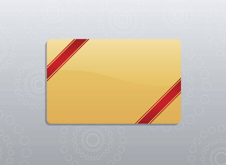 Giftcard with red ribbons on the corners Vector