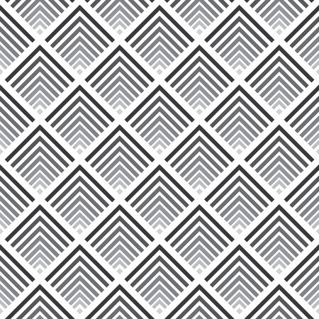 ombre: Seamless abstract geometric pattern, shades of grey Illustration