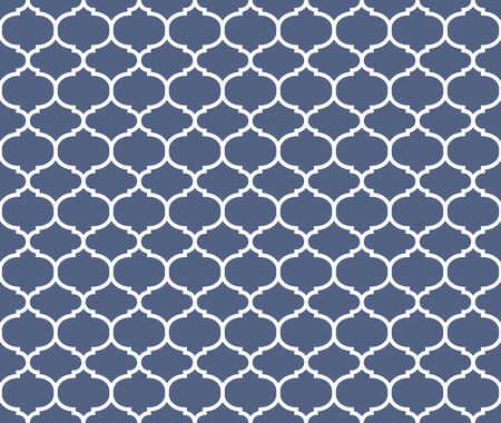 Seamless pattern, morrocan inspired, blue