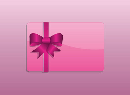 A simple valentines day pink giftcard Vector